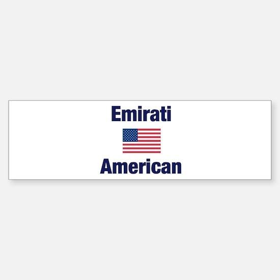 Emirati American Bumper Bumper Bumper Sticker