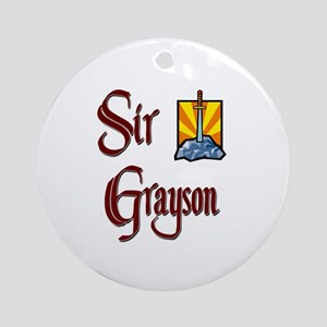 Sir Grayson Ornament (Round)