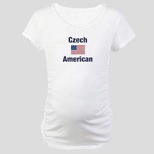 Czech American Maternity T-Shirt