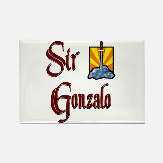 Sir Gonzalo Rectangle Magnet