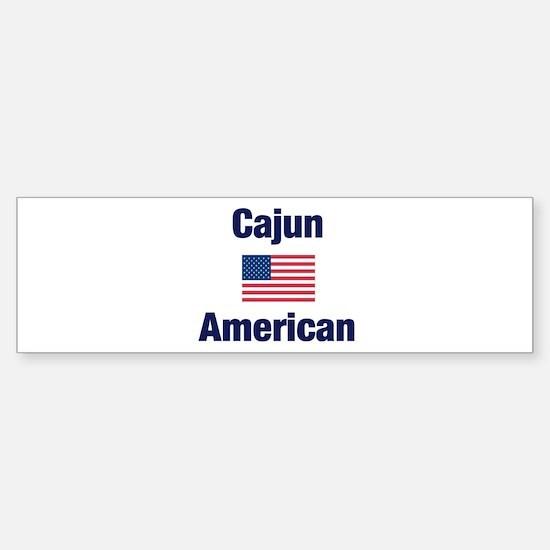 Cajun American Bumper Bumper Bumper Sticker