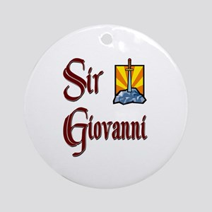 Sir Giovanni Ornament (Round)