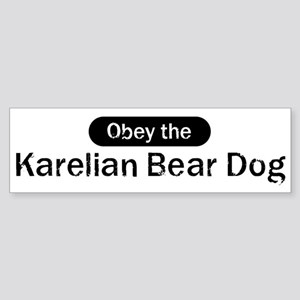 Obey the Karelian Bear Dog Bumper Sticker