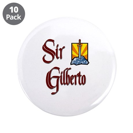 "Sir Gilberto 3.5"" Button (10 pack)"