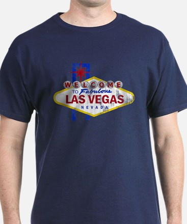 Las Vegas Sign Distressed T-Shirt