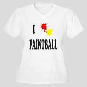 PAINTBALL Women's Plus Size V-Neck T-Shirt