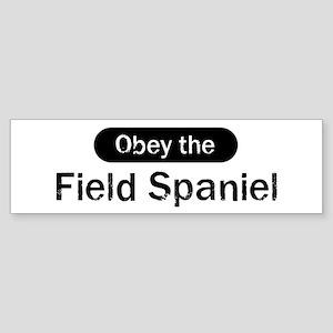 Obey the Field Spaniel Bumper Sticker