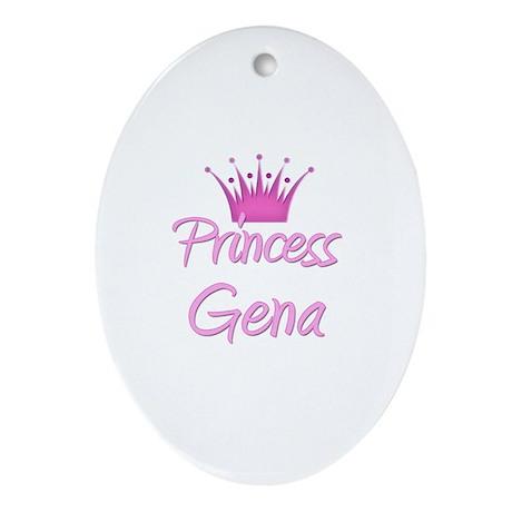 Princess Gena Oval Ornament