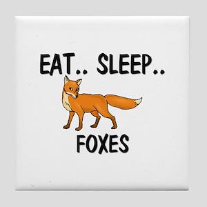 Eat ... Sleep ... FOXES Tile Coaster