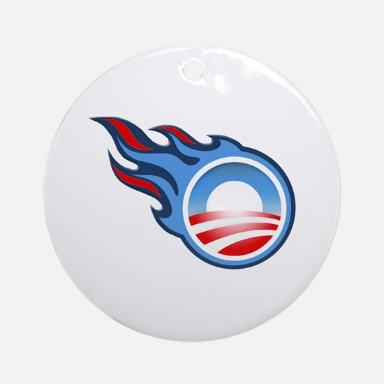 TITANS fans for OBAMA Ornament (Round)
