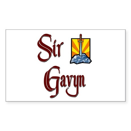 Sir Gavyn Rectangle Sticker