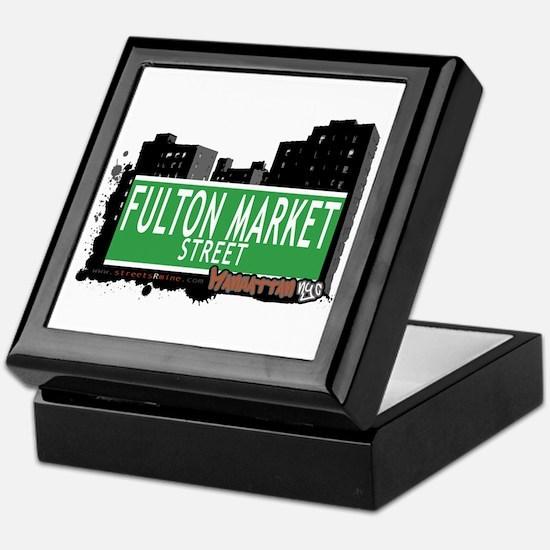 FULTON MARKET STREET, MANHATTAN, NYC Keepsake Box