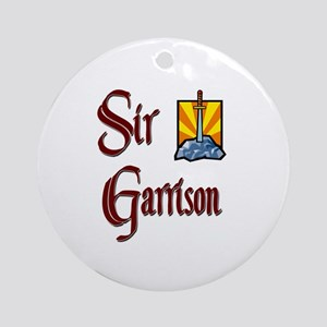 Sir Garrison Ornament (Round)