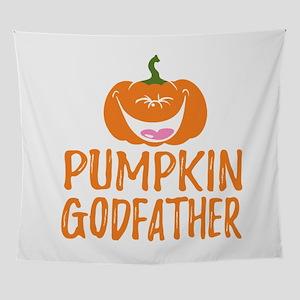 Pumpkin Godfather Cute Halloween Wall Tapestry