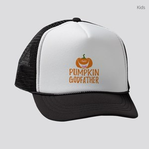 Pumpkin Godfather Cute Halloween Kids Trucker hat