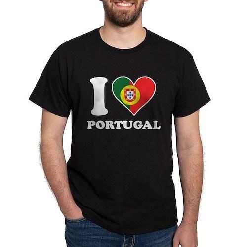 I Love Portugal Portuguese Flag Heart T-Shirt