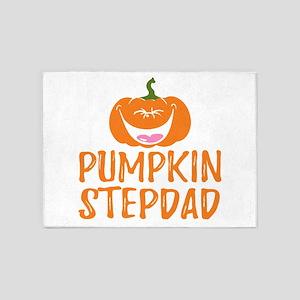 Pumpkin Stepdad Cute Halloween 5'x7'Area Rug