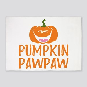 Pumpkin Pawpaw Cute Halloween 5'x7'Area Rug