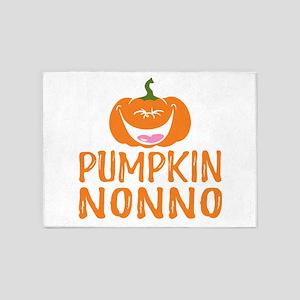 Pumpkin Nonno Cute Halloween 5'x7'Area Rug