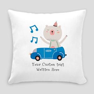 Bear Party Custom Text Everyday Pillow
