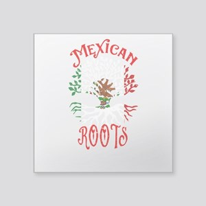 Mexican Roots Mexico Flag Family Tree Ance Sticker