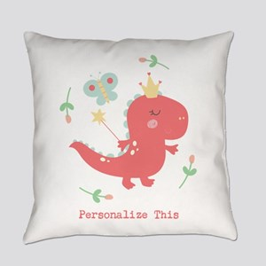 Dinosaur Crown Personalized Everyday Pillow