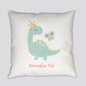 Dinosaur Princess Personalized Everyday Pillow