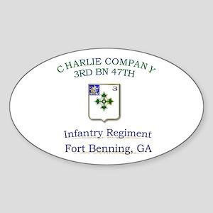 CCO 3RD 47TH Oval Sticker