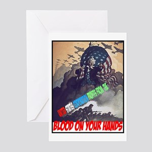 Blood on your hands Greeting Cards (Pk of 10)