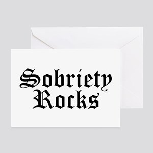 Sobriety Rocks Greeting Cards (Pk of 10)