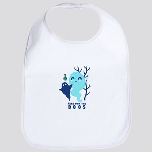 Here for the Boos Ghost Baby Bib
