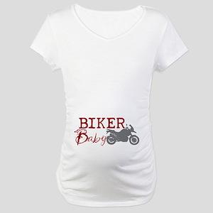 Biker Baby Maternity T-Shirt