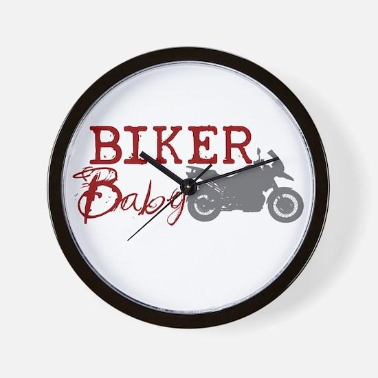 Biker Baby Wall Clock