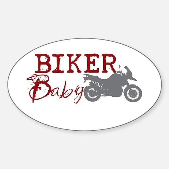 Biker Baby Oval Decal