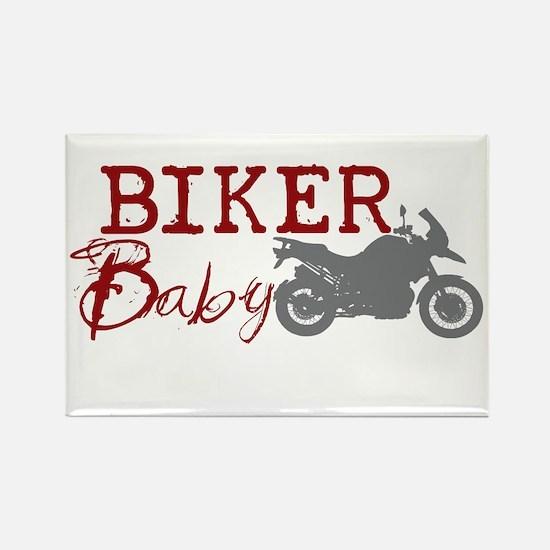 Biker Baby Rectangle Magnet