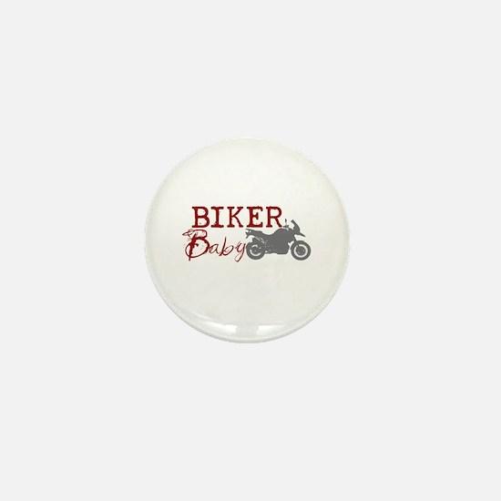 Biker Baby Mini Button