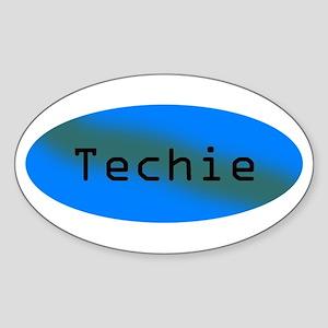 Techie Oval Sticker