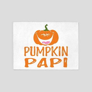 Pumpkin Papi Cute Halloween 5'x7'Area Rug