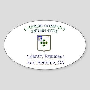 CCO 2ND 47TH Oval Sticker