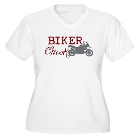 Biker Chick Women's Plus Size V-Neck T-Shirt