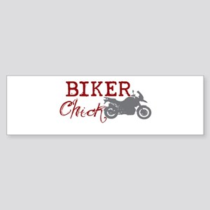 Biker Chick Bumper Sticker