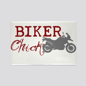 Biker Chick Rectangle Magnet
