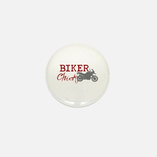 Biker Chick Mini Button