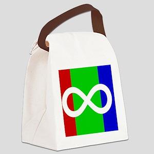 Autism Pride flag Canvas Lunch Bag