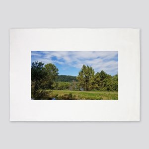 Green Forest Landscape 5'x7'Area Rug