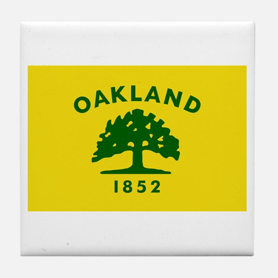 Cute Oakland tree Tile Coaster