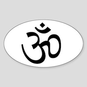White Om Sticker