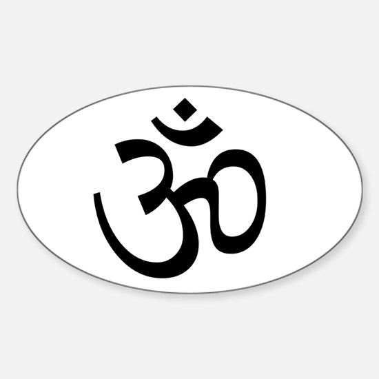 White Om Decal
