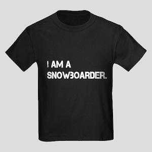 I am a Snowboarder. Kids Dark T-Shirt