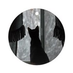 Kitten in Window Round Ornament